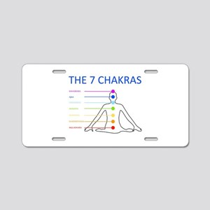 The seven chakras with thei Aluminum License Plate