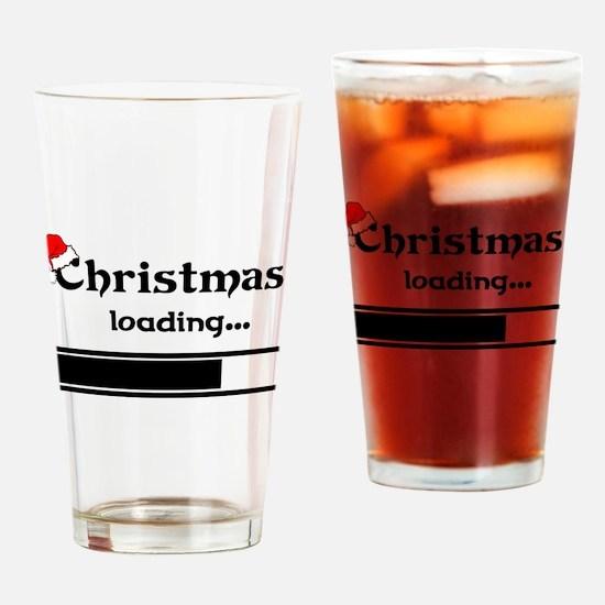 Christmas Loading Drinking Glass