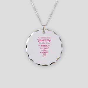 I Love You Necklace Circle Charm