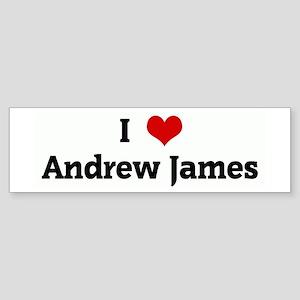 I Love Andrew James Bumper Sticker