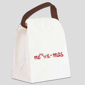 Merry X Mas Canvas Lunch Bag