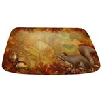 Thanksgiving Squirrel Bathmat