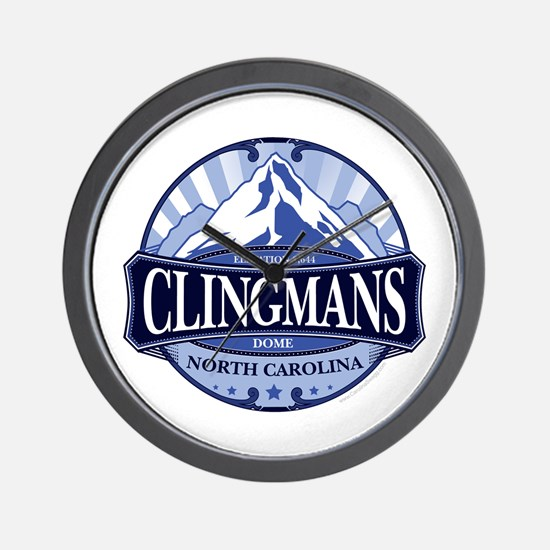Clingmans Dome North Carolina Tennessee Wall Clock