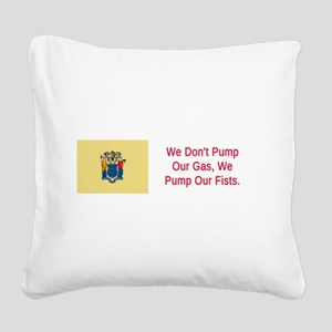 New Jersey Humor #3 Square Canvas Pillow