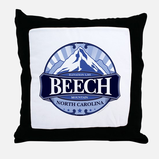Beech Mountain North Carolina Throw Pillow