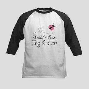 Worlds Best Big Sister Kids Baseball Jersey