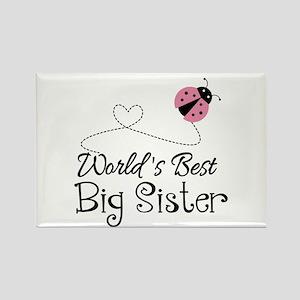 Worlds Best Big Sister Rectangle Magnet