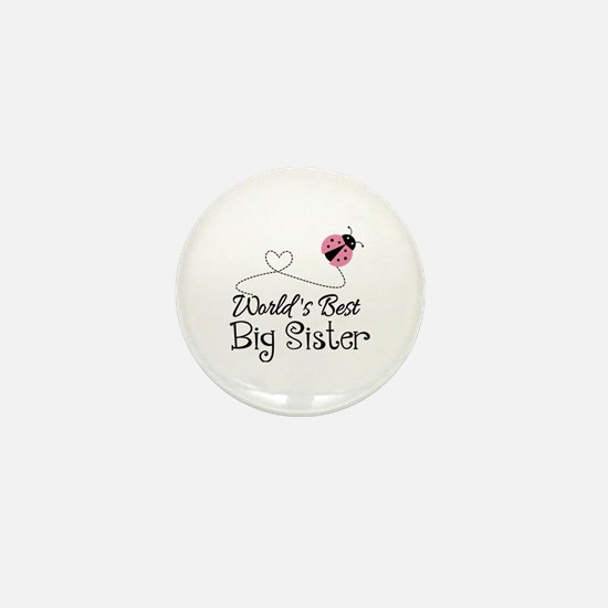 Worlds Best Big Sister Mini Button