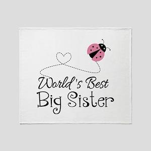 Worlds Best Big Sister Throw Blanket