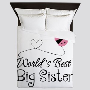 Worlds Best Big Sister Queen Duvet