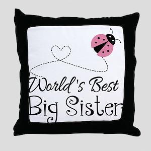 Worlds Best Big Sister Throw Pillow