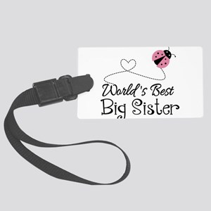 Worlds Best Big Sister Large Luggage Tag