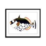 Clown Triggerfish Framed Panel Print