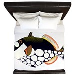 Clown Triggerfish King Duvet