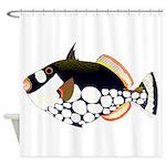 Clown Triggerfish Shower Curtain