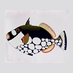 Clown Triggerfish Throw Blanket