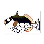 Clown Triggerfish Rectangle Car Magnet