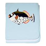 Clown Triggerfish c baby blanket