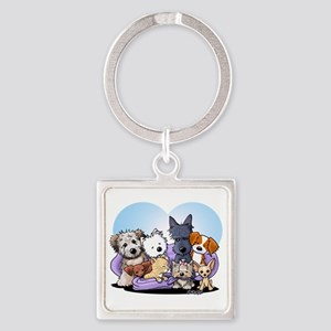 The Littlest Souls Square Keychain