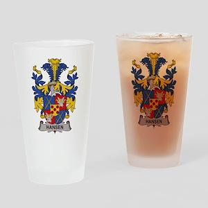 Hansen Family Crest Drinking Glass