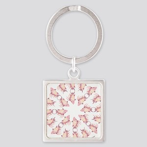 Tribal Hogfish Happenings Square Keychain