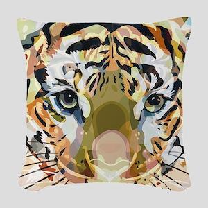 Tiger Mix #1 Woven Throw Pillow