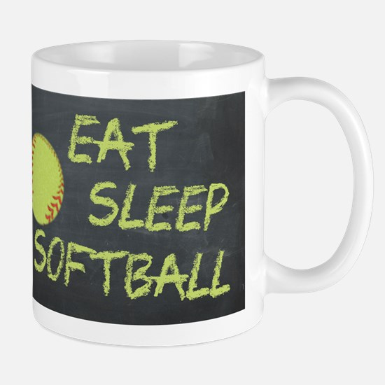 eat, sleep, softball Mug