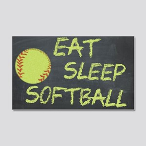 eat, sleep, softball 20x12 Wall Decal