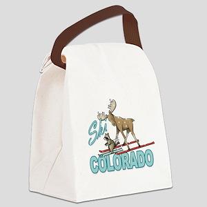 Ski Colorado Canvas Lunch Bag