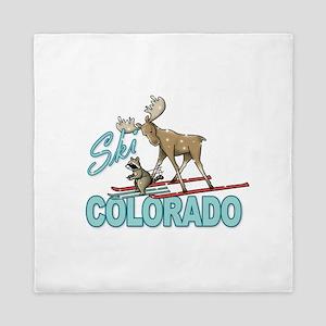Ski Colorado Queen Duvet