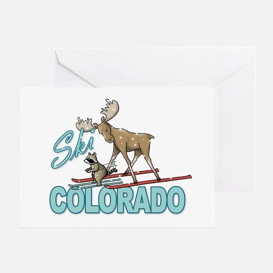 Ski Colorado Greeting Card