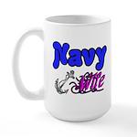 Navy Wife Large Mug