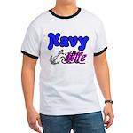 Navy Wife Ringer T