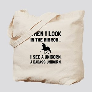 Badass Unicorn Tote Bag