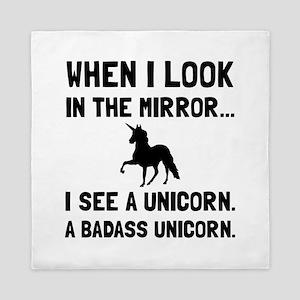 Badass Unicorn Queen Duvet