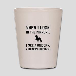 Badass Unicorn Shot Glass