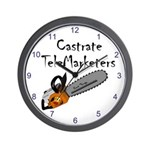 Castrate TeleMarketers Wall Clock