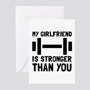 Girlfriend Stronger Greeting Cards