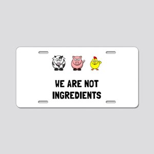 Not Ingredients Aluminum License Plate