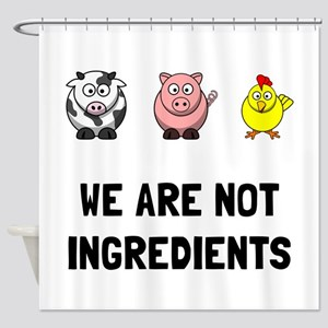 Not Ingredients Shower Curtain