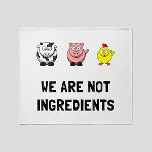 Not Ingredients Throw Blanket