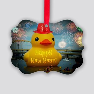 new year Picture Ornament
