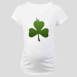 Cute Irish Shamrock Maternity T-Shirt