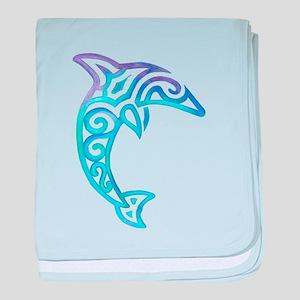 Tribal Dolphin baby blanket