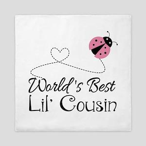 Worlds Best Lil Cousin Queen Duvet