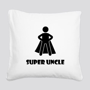 Super Uncle Square Canvas Pillow