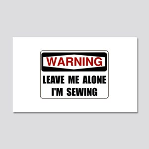 Warning Sewing Wall Decal