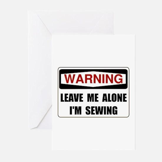 Warning Sewing Greeting Cards