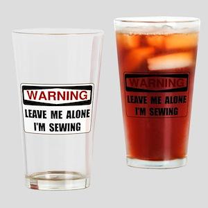 Warning Sewing Drinking Glass