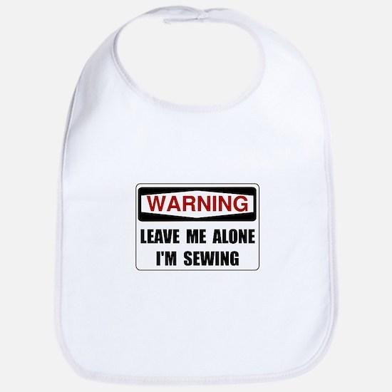 Warning Sewing Bib